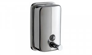 Presto_Wall_Mounted_SS_Polished_Soap_Dispenser