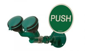 ClassicLine_EyeShower_with_2_spray_heads_Wall_Mounted_45°_green
